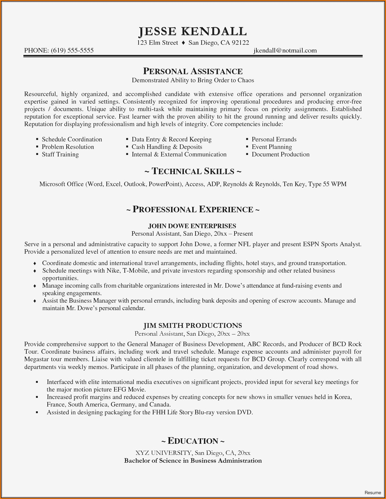 Resume Writer San Diego