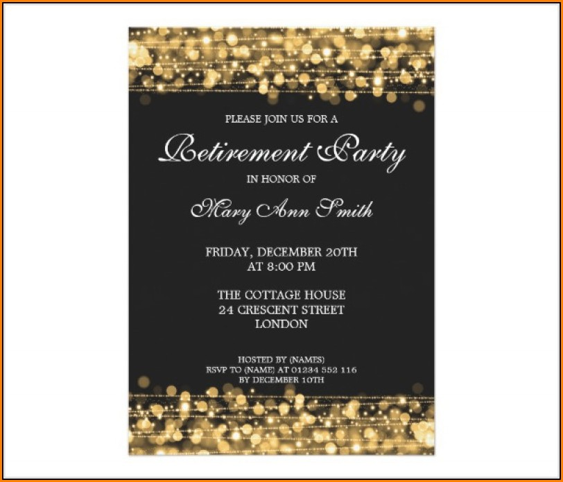 Retirement Party Invitation Template Ms Word