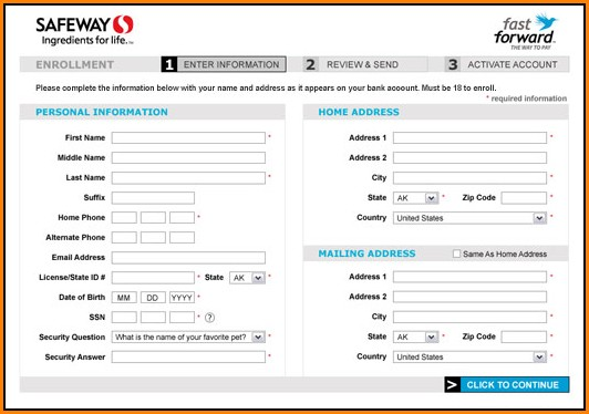 Safeway Job Application Form Online