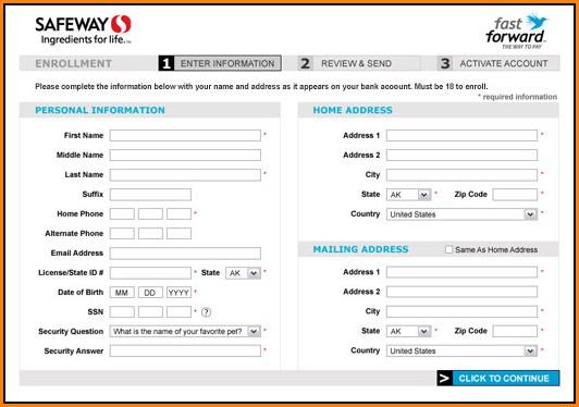 Safeway Job Application Online Form