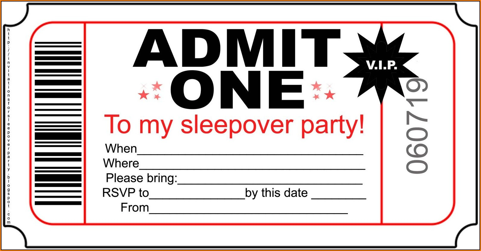 Sleepover Invitation Templates