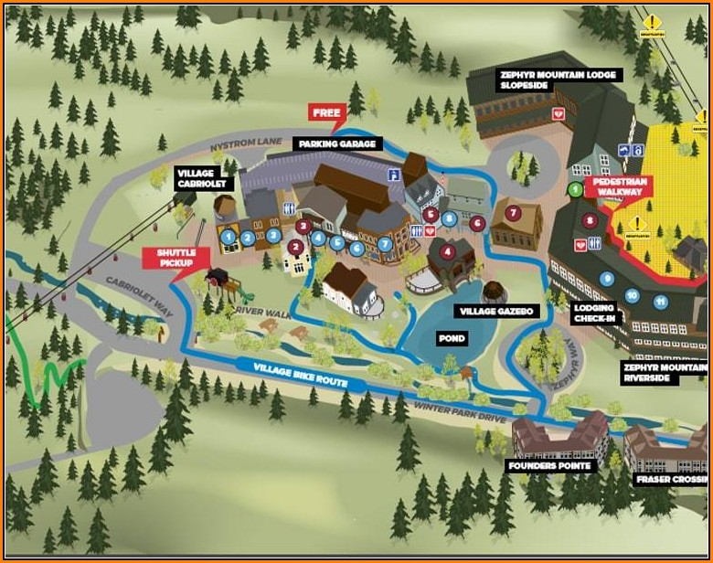 Snowshoe Lodging Map