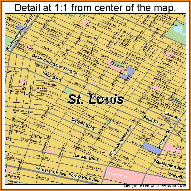 St Louis Street Map