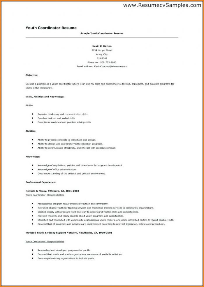 Teenager First Resume Template