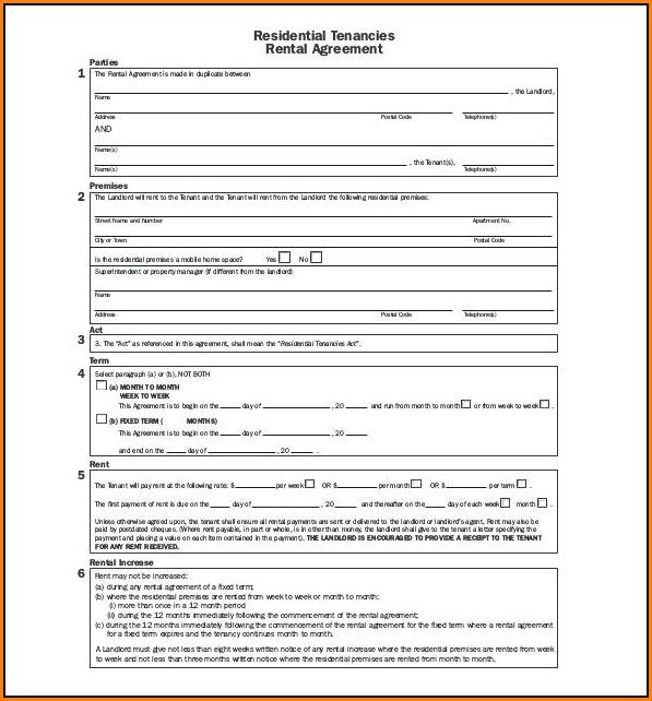 Tenancy Agreement Template Pdf
