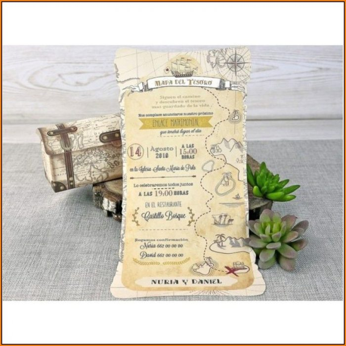 Treasure Map Wedding Invitation