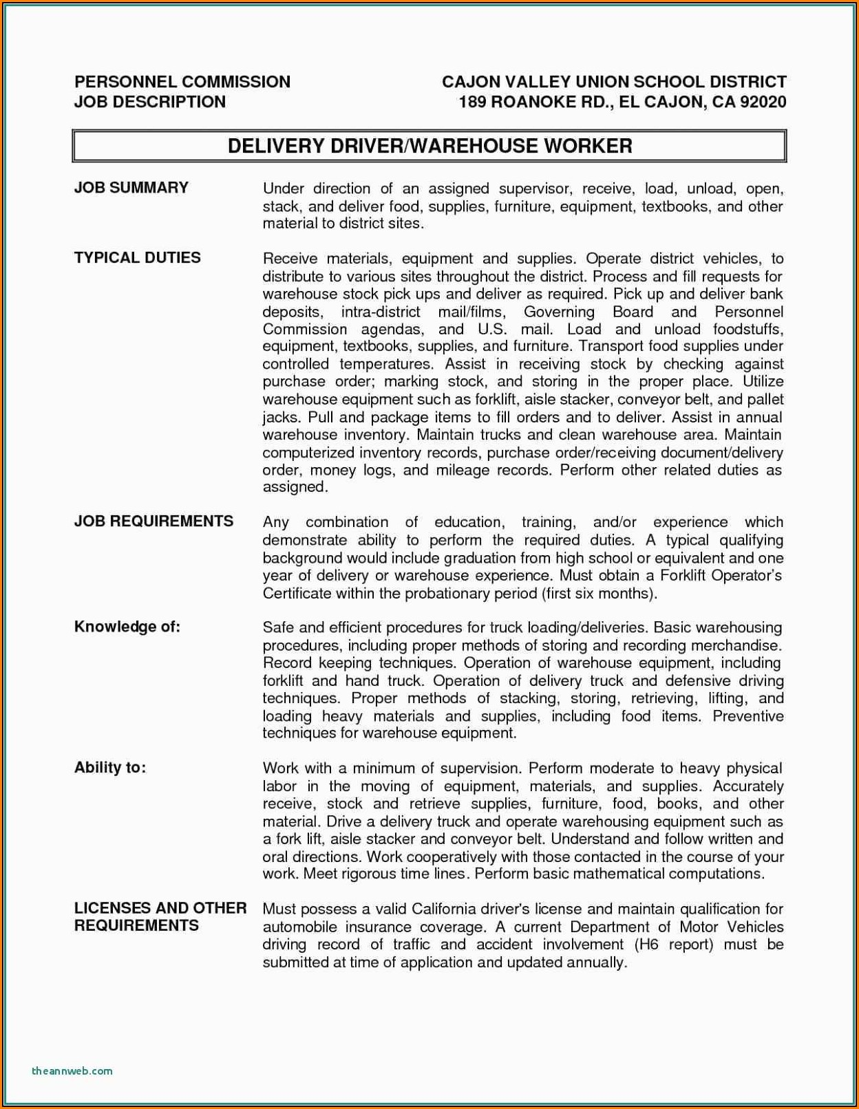 Truck Driver Job Application Pdf