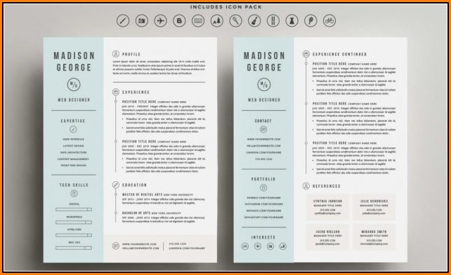 Two Column Resume Template Word Free