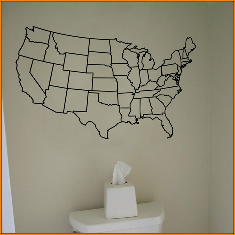 Us Map Wall Decal