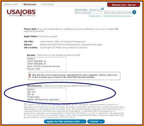 Usa Jobs Resume Template