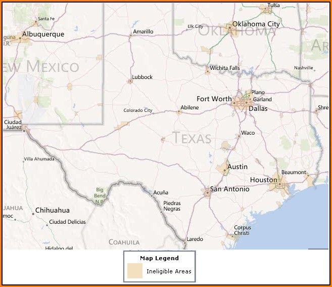 Usda Loan Map Texas