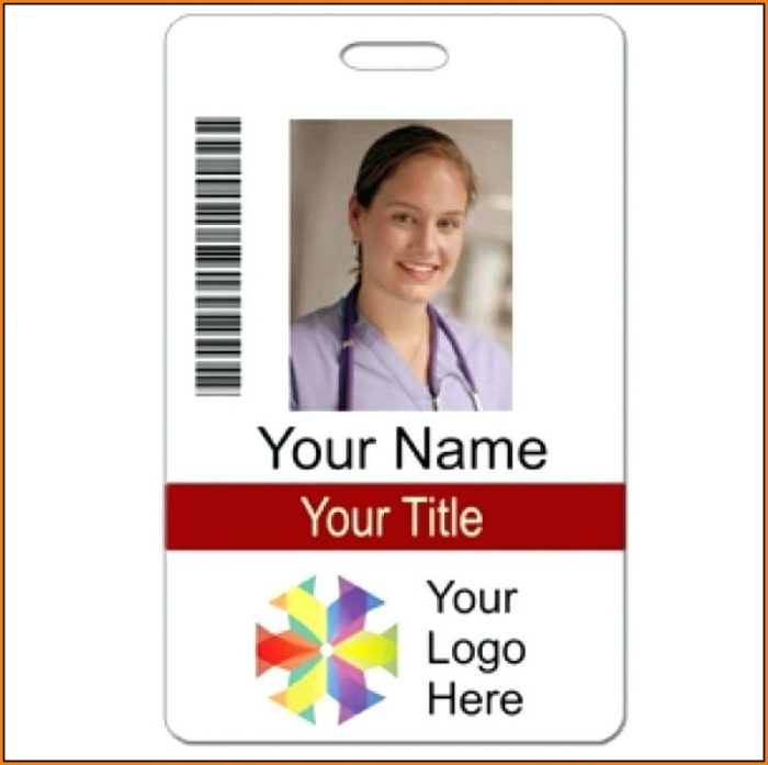 Vertical Name Badge Template