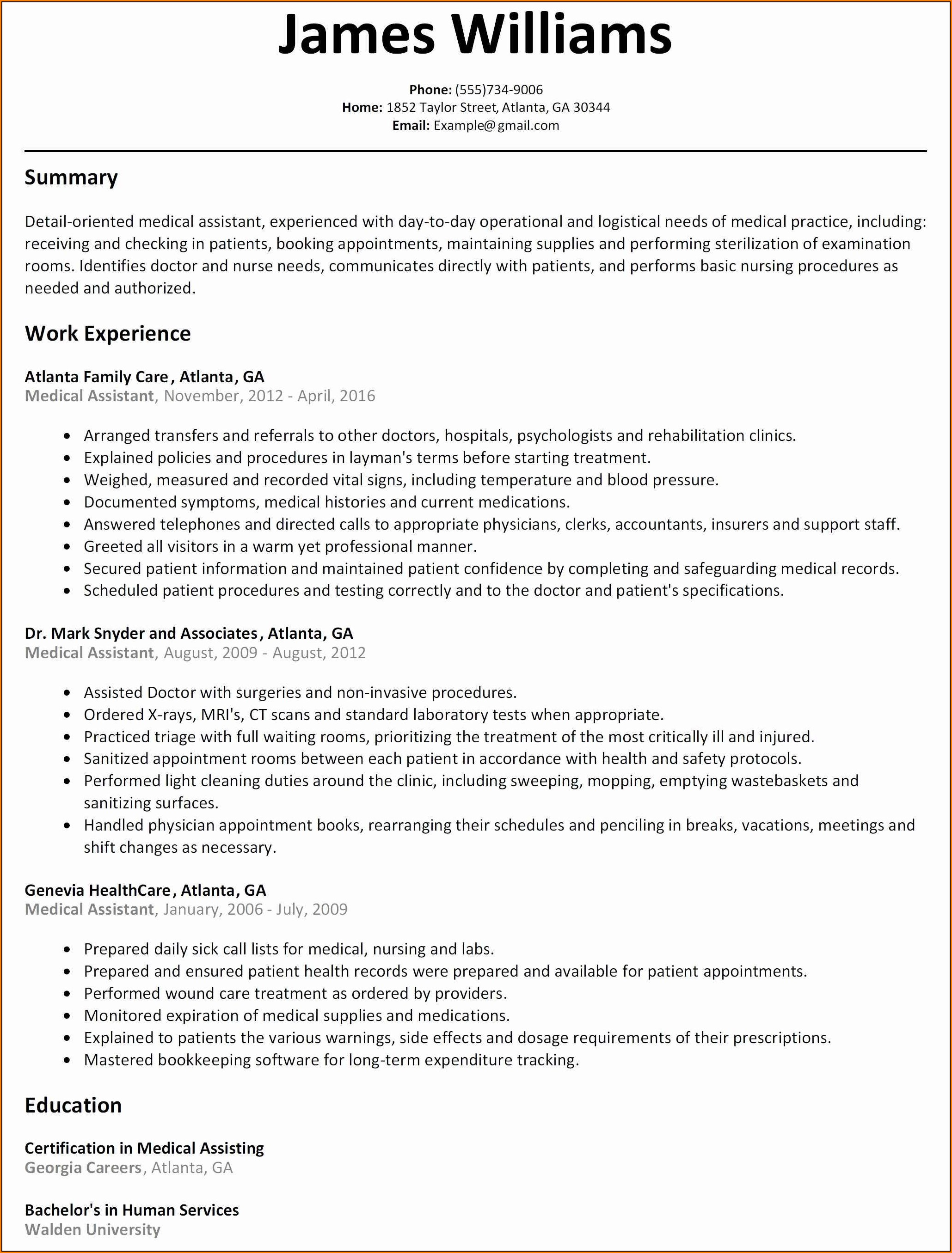 Warehouse Manager Resume Template Free