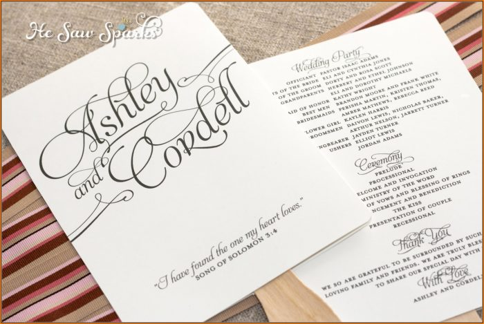 Wedding Fan Programs Templates Free