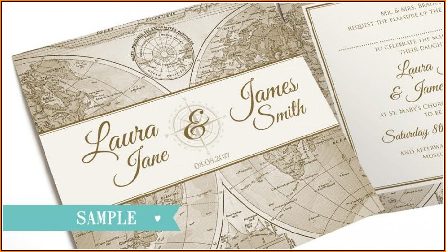 Wedding Invitation Map Sample