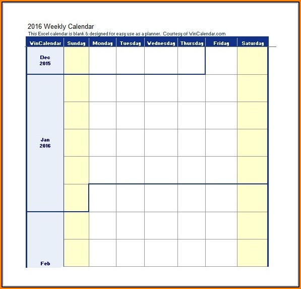 Weekly Work Schedule Template Excel