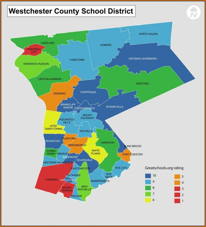 Westchester County School District Map