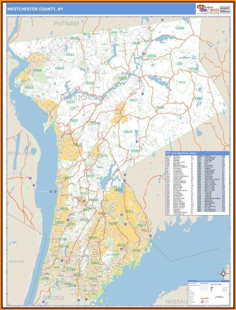 Westchester County Zip Code Map