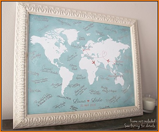 World Map Guest Book