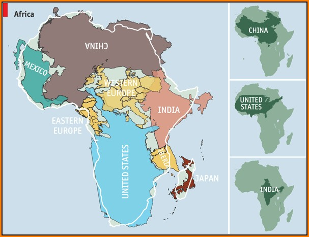 World Map Mercator Vs Peters Projection