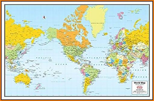 World Map Non Mercator Projection