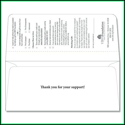 2 Way Remittance Envelope Template