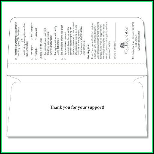 2 Way Remittance Envelope Template