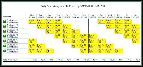 4 10 Hour Shift Schedule Templates