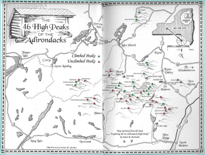 46 High Peaks Adirondacks Map