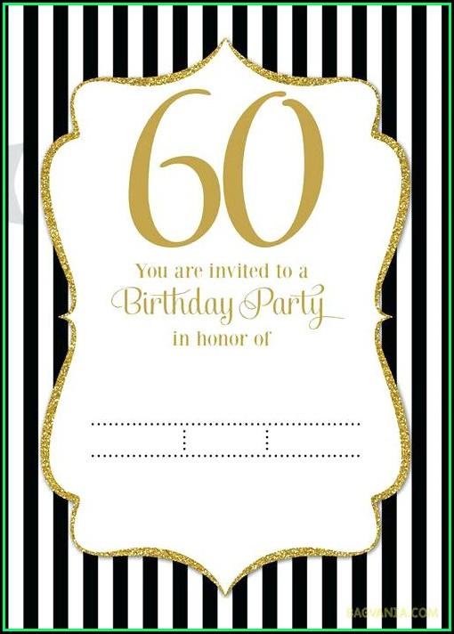 60 Birthday Invites Templates