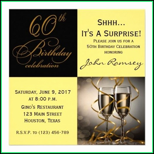 60th Birthday Invitation Template Download