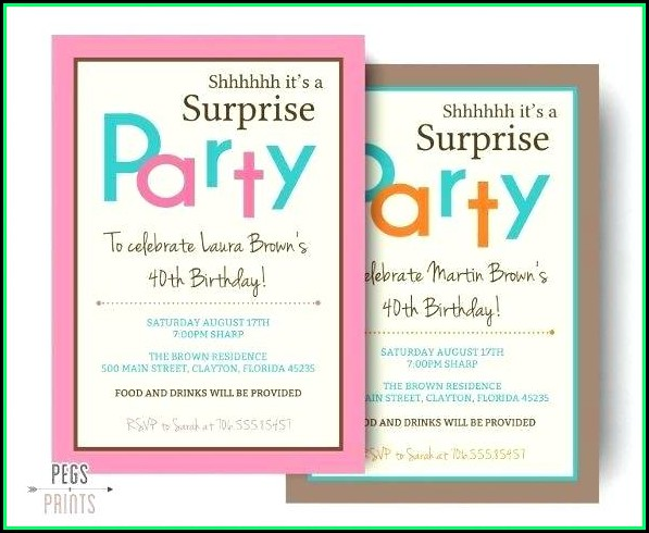 60th Birthday Invitation Templates For Word
