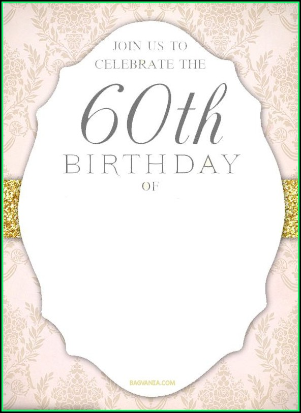 60th Birthday Invitation Templates Free Printable