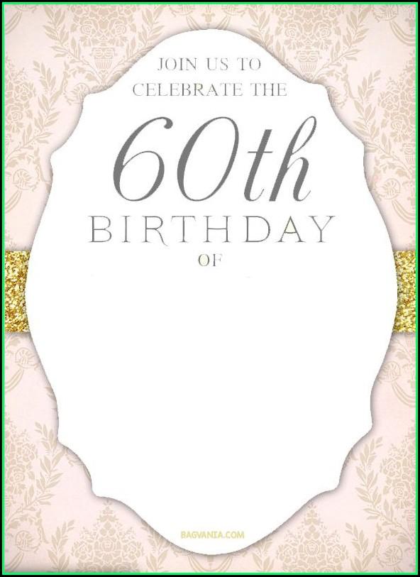 60th Birthday Invitation Templates Free Printable