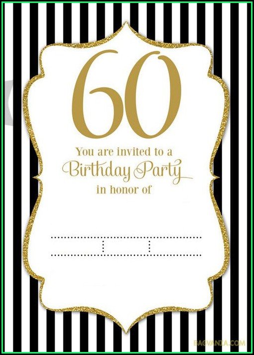 60th Birthday Invitation Templates