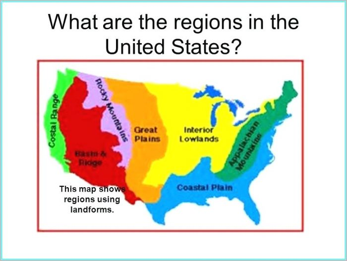 8 Geographic Regions Of The United States Map