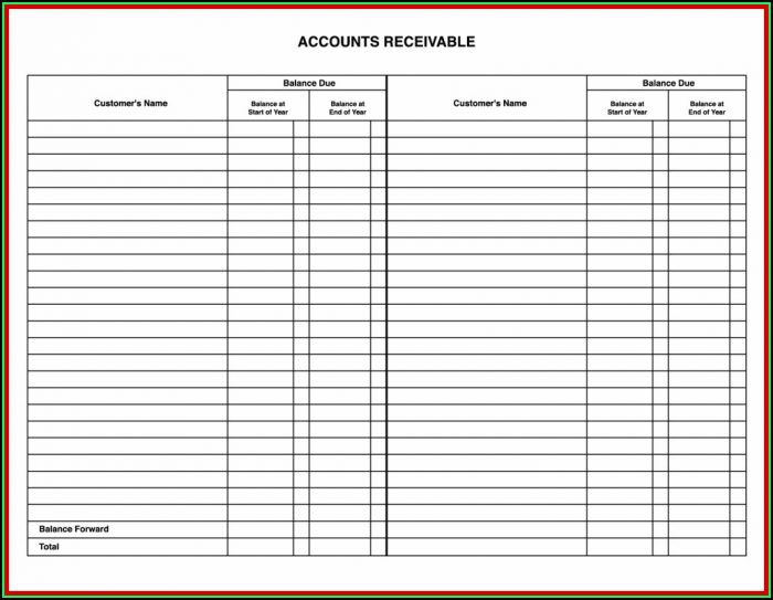 Accounting Ledger Forms Free