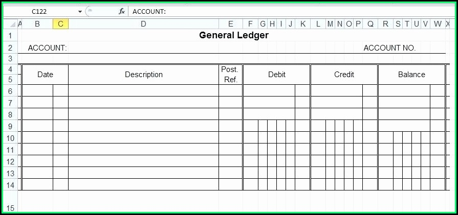 Accounting Ledger Template Excel