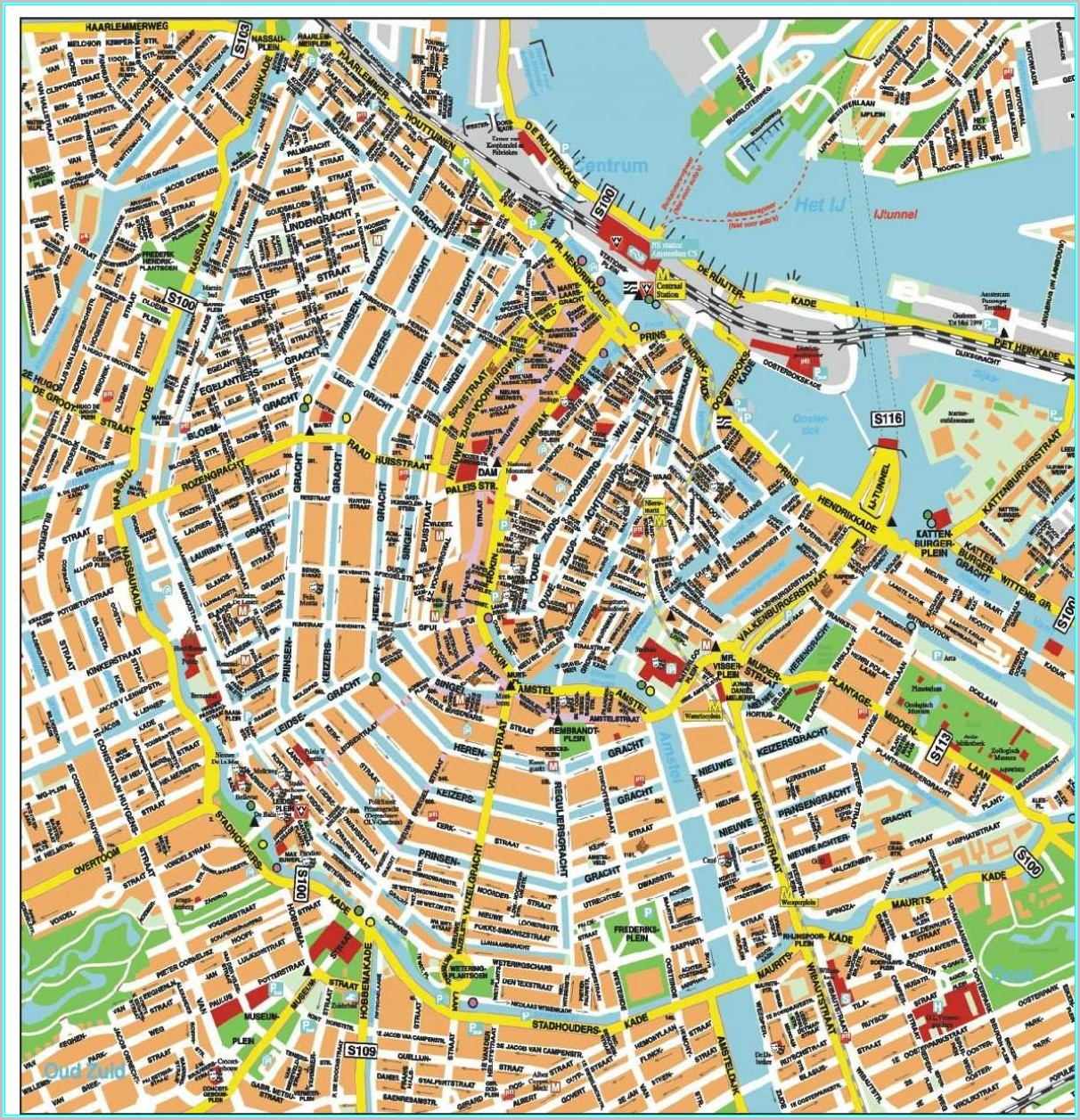 Amsterdam Windmills Map