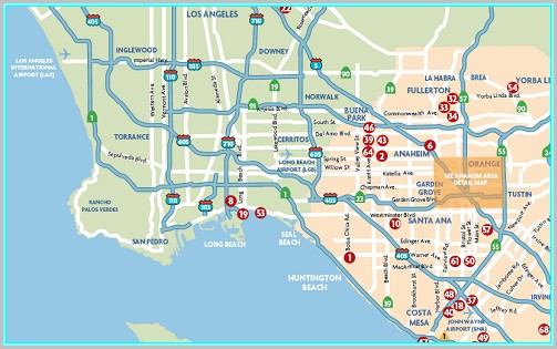 Anaheim California Hotel Map