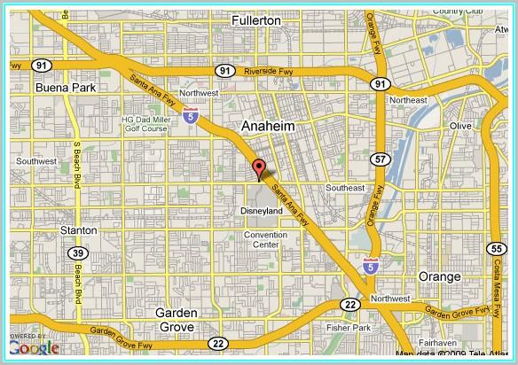 Anaheim Hotel Google Maps