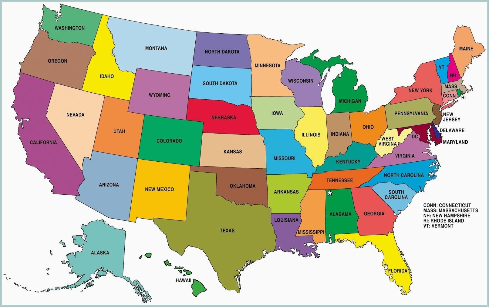 Arizona Geographic Alliance United States Map