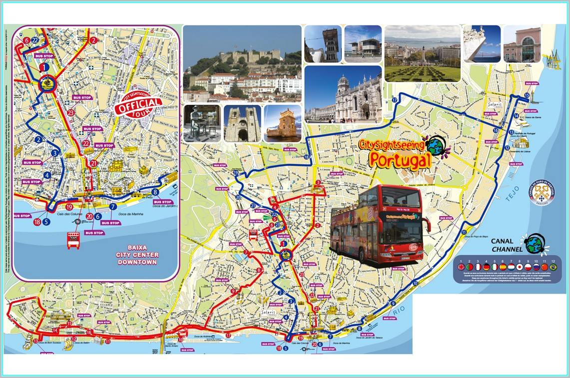 Athens Hop On Hop Off Blue Bus Map