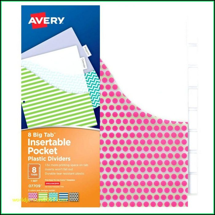 Avery 8 Tab Index Divider Template