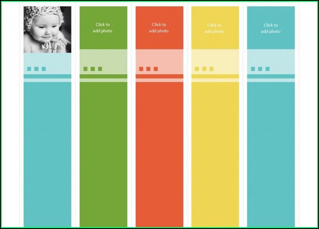 Avery Bookmark Template