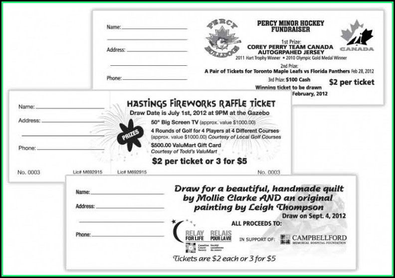 Avery Printable Raffle Ticket Template