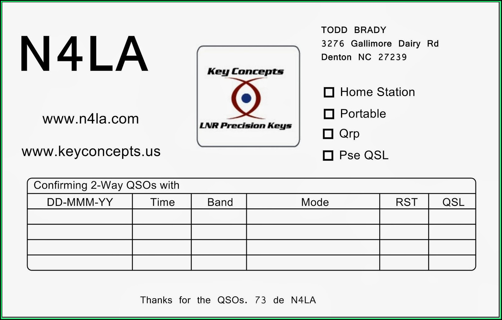 Avery Qsl Card Template