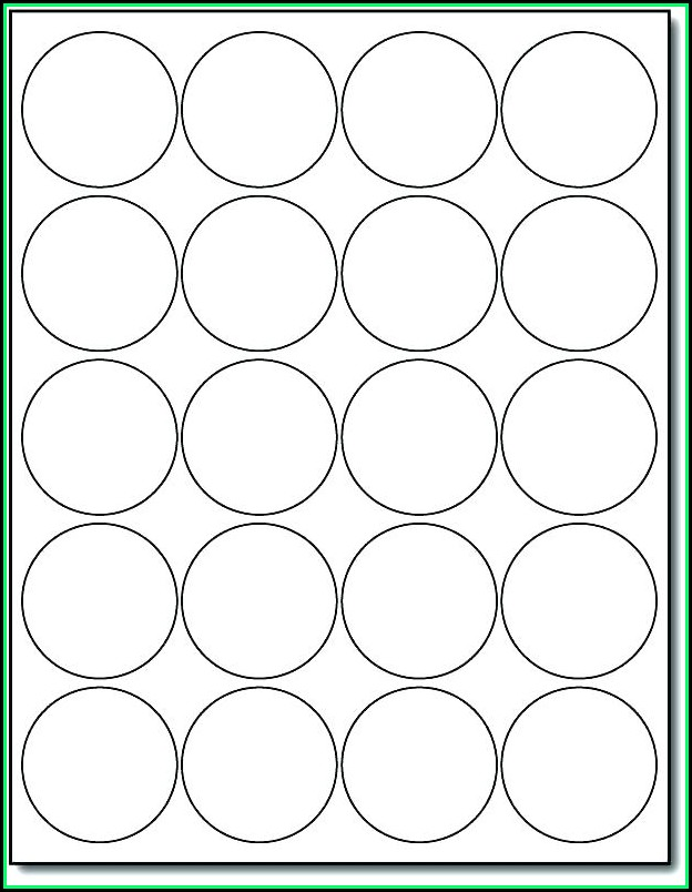 Avery Round Label Template 22807