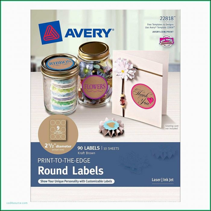 Avery Round Label Template