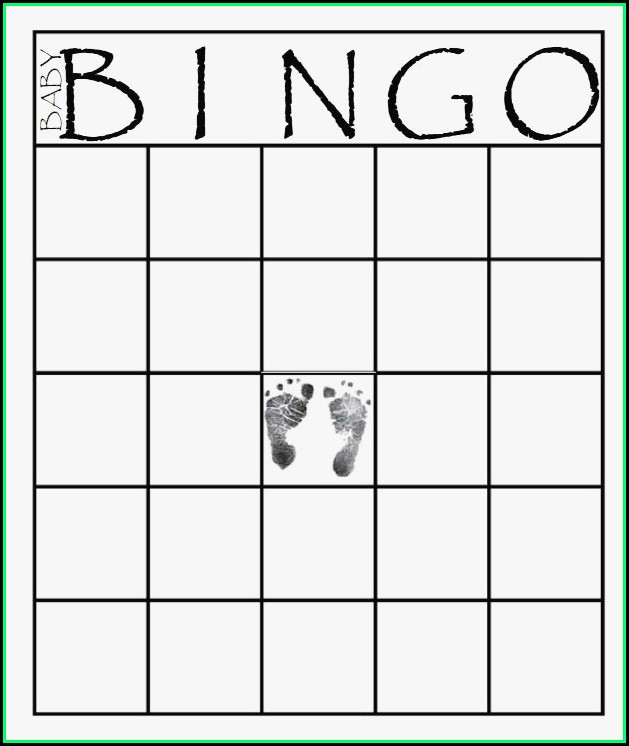 Baby Shower Bingo Template Free Printable